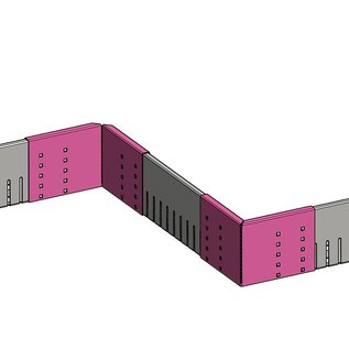 Versandmetall VERBINDER Kiesfangleiste klein - Aluminium Al99,5 – Gelocht – 90° gekantet