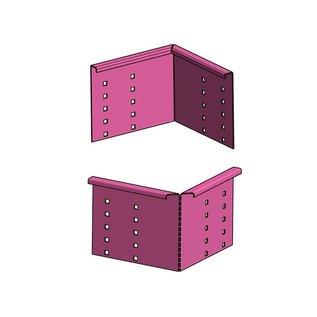 Versandmetall Grindkeringsprofiel Grindprofiel klein Verbinding Aluminium geperforeerd Höhe 40-75mm gevouwen 90°