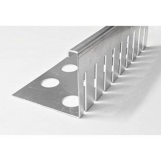 Versandmetall Grindkeringsprofiel Grindprofiel, groot geperforeerd Aluminium hoogte 80 - 120 mm