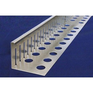 Versandmetall Kiesfangleiste klein - Aluminium Al99,5 – Gelocht – 90° gekantet