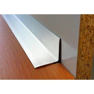 Versandmetall Innen Edelstahlwinkel Kantenschutzwinkel Eckschutzschiene gleichschenkelig 90° Länge 1250 mm