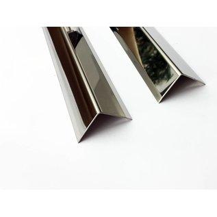 Versandmetall Edelstahlwinkel Kantenschutzwinkel Eckschutzschiene 3-fach gekantet gleichschenkelig 90° Länge 1250 mm