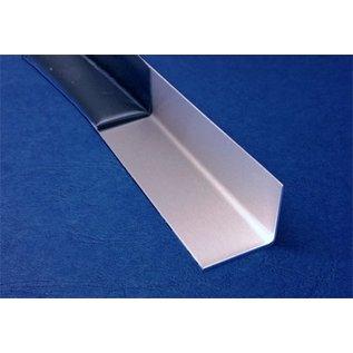 Versandmetall RVS 304 Hoekprofiel ongelijkzijdig gezet 90° Lengte 1250 mm