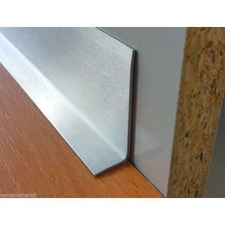 Versandmetall RVS 304 Hoekprofiel Hoekbeschermer binnenhoek Lengte 2500mm binnenzijde geschuurd(grid320)