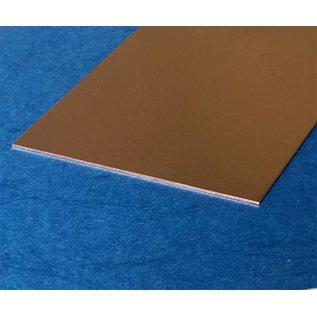 Versandmetall vlakke blanke  plaat koper gesneden, breedte 25 - 500 mm, tot Lengte 2000 mm, met beschermfolie