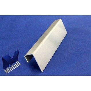 Versandmetall U-Profiel Eindprofiel ongelijkzijdig gezet dikte 1,5mm, a=20mm C= 40mm (binnen 37 mm) b=55mm Lengten 1000mm tot 2500mm butenzijde geschuurd(grid320)
