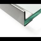 Versandmetall dakgoot roestvrij Staal vor glasdakken van 12,52mm 1.4301, geschuurd(grid320)