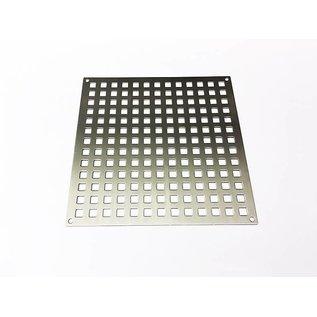 Versandmetall Gestanztes Lochblech aus Edelstahl Quadratloch 10x10mm Materialstärke 1,5mm
