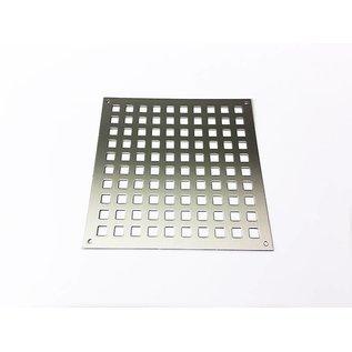 Versandmetall Ventilatierooster gemaakt van roestvrij staal vierkante gat 10x10mm, Dickte 1,5 mm