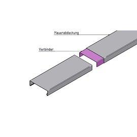 Versandmetall Muurafdekking verbinding recht 1,0 mm Aluminium of Roestvrij Staal RVS
