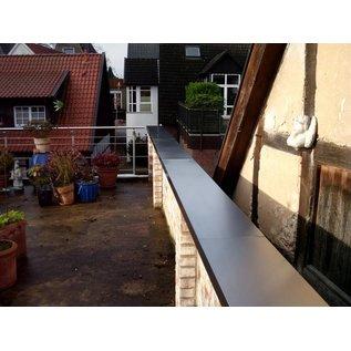 Versandmetall Wandanschlußstück für Mauerabdeckung Attikaabdeckung von Versandmetall Materialstärke 1,0 mm