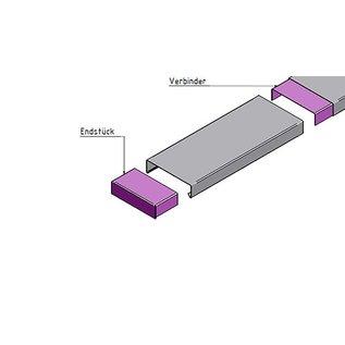Versandmetall Muurafdekking Eindstuk materiaaldikte 1,0 mm gemaakt van Aluminium of roestvrij Staal