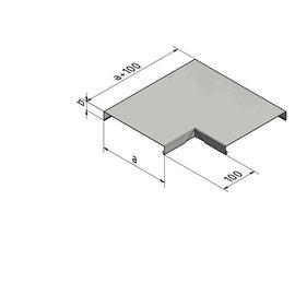 Versandmetall Mauerabdeckung Attikaabdeckung 90° Eckverbinder 1,0 mm