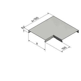 Versandmetall 90° Eckverbinder für Mauerabdeckung Attikaabdeckung von Versandmetall Materialstärke 1,0 mm