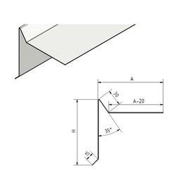 Versandmetall Dakrandprofiel Windflap Dakrand dakprofiel gemaakt van roestvrij Staal 1,0 mm dikte, oppervlakke geschuurd