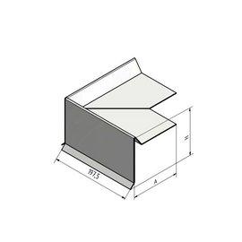 Versandmetall 90° Außenecke Ortgangblech aus 1,0mm Edelstahl gebürstet