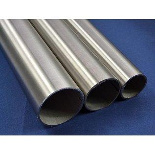 Versandmetall Edelstahlrohr rund 25x2mm Edelstahl 1.4301 geschliffen/gebürstet Korn 240