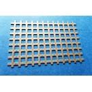 Versandmetall Quadratlochblech 1,0mm  8x8mm Steg 4mm, Schnittkanten offen
