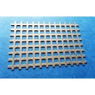 Versandmetall Quadratlochblech aus Edelstahl 1,0mm Qg 8-12 (8er Quadratloch in Reihe und 4mm Stegbreite)