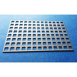Versandmetall Quadratlochblech aus Edelstahl Qg 8-12 (8er Quadratloch in Reihe und 4mm Stegbreite)