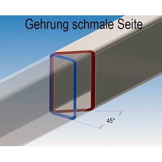 Versandmetall Deko Rechteckrohre Vierkantrohr Edelstahl gesägt 1.4301 geschliffen