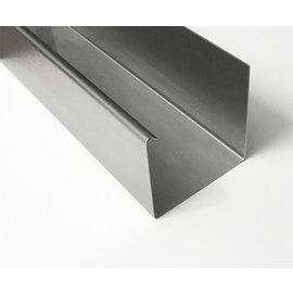 Versandmetall Gooten P1 bakgoot gootprofiel gemaakt van roestvrij Staal buitenzijde geschuurd(grid320)