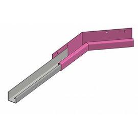 Versandmetall Goot P1 bakgoot gootprofiel binnenhoek 135° gemaakt van roestvrij Staal buitenzijde geschuurd