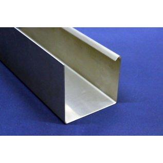 Versandmetall Regenrinne P1 - Außen-Eckverbinder 135° - aus Edelstahl 1.4301 außen Schliff K320