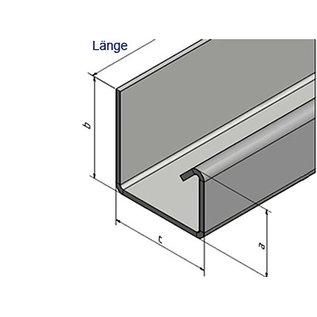 Versandmetall Goot P1 bakgoot gootprofiel buitenhoek 90° gemaakt van roestvrij Staal 1.4301 buitenzijde geschuurd