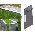 Versandmetall Bords de pelouse extra-hauts en acier inoxydable 250mm de haut