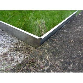 Versandmetall Graskanten extra hoog 250 mm gemaakt van roestvrij staal .