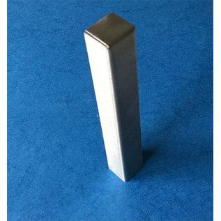 Versandmetall Grindkeringsprofiel Afboording Gazon Afboordin Eindstuk Eindstuk vor Stabiele gras- grind en bed stroken roestvrij Staal, 130 -250 mm