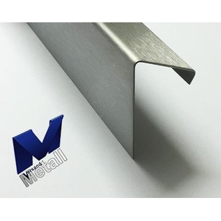 Versandmetall Winkel 60° mit Tropfkante innen 1,0 bis 1,5mm 20 bis 70mm L bis 2500 mm Schliff K320