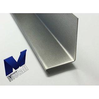 Versandmetall Winkel 90° mit Tropfkante vorn 1,0 bis 1,5mm 20 bis 70mm L bis 2500 mm Schliff K320