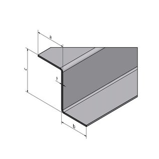 Versandmetall Z-Profil aus Edelstahl gekantet bis Höhe c= 30 mm und Länge 1250 mm