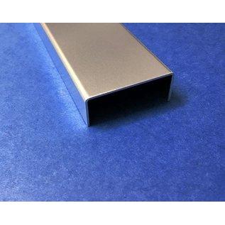 Versandmetall U-Profil aus Aluminium gekantet bis Breite c= 35-60 mm und Länge 2.000 mm