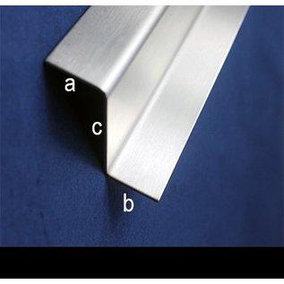 Versandmetall Z-profiel van roestvrij staal gezet hoogte c van 35 tot 100 mm en 1250 mm