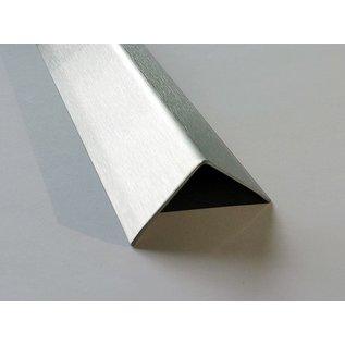 Versandmetall Hoekbeschermer, Hoekprofiel, Reparatieprofiel, Sparset, 50X50 mm, dikte 1,5 mm, lengte 1250mm, oppervlakke geschuurd (grid320)