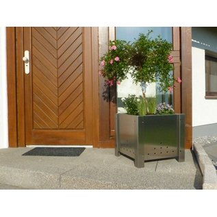 Versandmetall Bloemen pot plantenbak roestvrij Staal met 2 plastic insetstukken 28-58cm