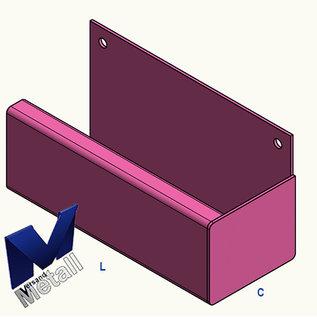 Versandmetall goot bakgoot P1 Eindstuk rechts roestvrij staal buitenzijde geschuurd(grid320)
