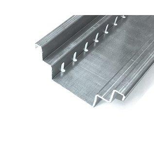 """Versandmetall Draingoten Afvoergoten Roostergoot Vorm  """"B""""  gemaakt van Aluminium inlaat 90mm tot 190mm afvoer van Water van de Oppervlakke laag inbouwhoogte"""