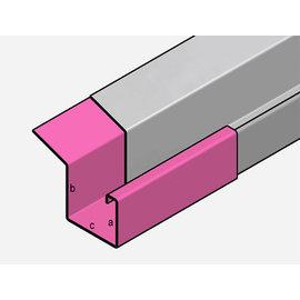 Versandmetall Regenrinne P2 - Verbinder Gerade - 1,5mm Edelstahl außen Schliff K320