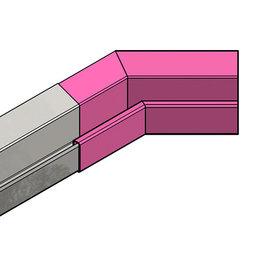Versandmetall Regenrinne P2 - Innen-Eckverbinder 135° - Edelstahl außen Schliff K320