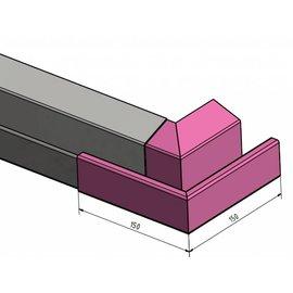 Versandmetall Regenrinne P2 - Außen-Eckverbinder 90° - Edelstahl außen Schliff K320
