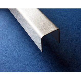 Versandmetall -4 Stück Edelstahl U-Profil t=1,0mm a=25mm c25mm (innen 23m) b=25mm L=2000mm AUSSEN Korn 320