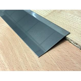 Versandmetall Voegafdekprofiel Afdekprofiel overgangsstrook 2,0mm roestvrij Staal oppervlakke  glanzend  2X gezet