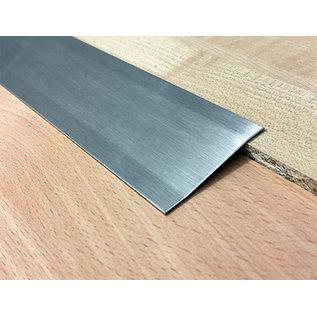 Versandmetall Voegafdekprofiel Afdekprofie Overgangsstrook 2,0mm roestvrij Staal oppervlakke geschuurd (grid320) 2X gezet