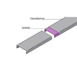 Versandmetall Verbinder voor muurafdekking Zolderafdekking van transportmateriaal Materiaaldikte 1,0 mm Alu antraciet