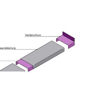 Versandmetall Muurafdekking muuraansluiting 1,0 mm Aluminium antrazit