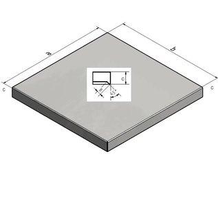 Versandmetall Muurafdekking afdekking van Staaken 1,0 mm Aluminium antrazit